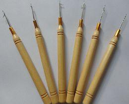 kit de herramientas de extensión de cabello micro perlas Rebajas la aguja del gancho para hace pelucas más baratas Envío libre 5pcs / lot Aguja del gancho de la peluca para hacer pelucas / extensiones del tupé / del pelo