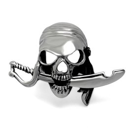 Wholesale Silver Sword Ring - Domineering Sword Skull Shaped Jewelry Ring Stainless Steel Size 7 8 9 10 11 12