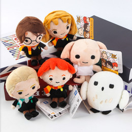 "Wholesale Film Animations - EMS New 6 Styles 6"" 15CM Harry Potter Plush Doll Kids Party Birthday Gifts Film Animation Collection Dolls Soft Stuffed Toys"