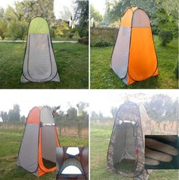 Wholesale Camp Shower Tents - Portable Camouflage Shelter Camping Tent Move Privacy Bathing Toilet Tent Outdoor Dressing Changing Room Shower Tent CCA6500 10pcs