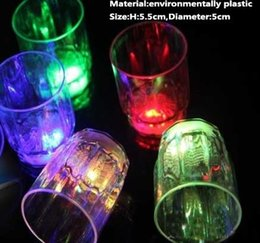 Wholesale Plastic Mug Led - 51-100ML Small MIni Led Flashing Cola Cup Colorful Beer Bar Drinkware Dining Party Mugs Luminous Mini Decoration Night Cups Gifts PX-C10