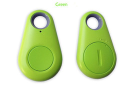 Wholesale Alarm System Phone - Wholesale- Smart Finder Bluetooth Tracker Pet Children GPS Locator Tag Alarm Wallet Key vehicle tracking system phone track bluetooth Blue