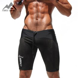 Wholesale Tight Fitting Sexy - Wholesale-Aimpact Sexy Casual Men's Tight Shorts Leisure Summer Slim Fitted Men Mesh Workout Shorts Skinny Crossfit Men's Fight Short AM11