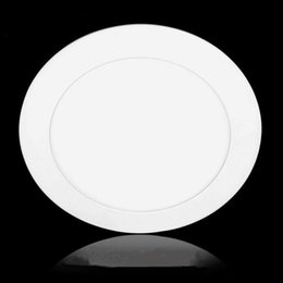 Wholesale Super Led 6w - Efficient 3W 4W 6W 9W 12W 15W 18W Led Panel Light SMD 2835 High Super Bright Warm White Cool White Celling Light AC85V-265V Non-Dimmable