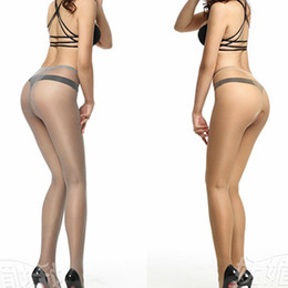 tight transparent underwear Promo Codes - Wholesale- 5D Sexy Women Open Crotch Transparent Lingerie Tights See Throgh Sexy Underwear Stealth Pantyhose Silk Stockings women Pantyhose
