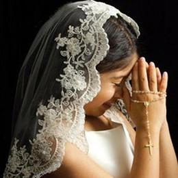 Piezas de cabeza para niñas online-2017 lindos baratos de alta calidad Girls 'Head Pieces apliques de encaje corto Velo para niños Flower Girls Veils para la boda Hecho por encargo