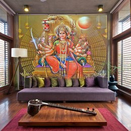 Wholesale India Papers - Wholesale-Free Shipping Southeast Asia Thailand and India yoga Hindu god statues mural wallpaper