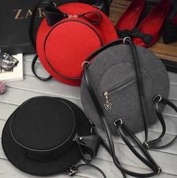 Wholesale Ladies Hats Bags Wholesale - Unique Hat Shape Women Nylon Crossbody bag Handbags Sling Shoulder Bags Creative Personality Lady Messenger Cross body Bags Bow