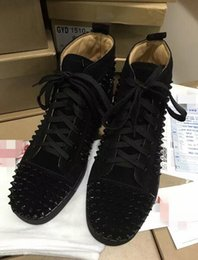 Wholesale Tuxedo Lace - 2017 Top brand designers Women MENS SNEAKERS RED BOTTOMS LOUBILLE TUXEDO PANDA SPIKES Rhinestone Spikes Genuine Leather Simple