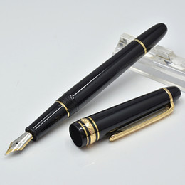 Wholesale Standard Roller Ball Pen Refills - luxury 145 black resin ballpoint pen   Roller ball pen   Fountain pen school office stationery classic Writing refill pens Gift