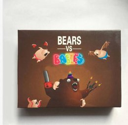 Wholesale Trade Wholesaler Baby Toys - Bears vs Babies A Monster Building From Kittens Card Funny Toy Party Card Games Social Media Board Games KKA3538