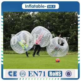 Wholesale Inflatable Human Body - Free Shipping 1.5m Inflatable Football Bubble Ball Bumper Ball Body Zorbing Bubble Soccer Human Bouncer Bubbleball Zorb Ball