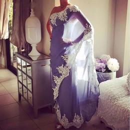 Appliques abito marocchino online-Nuovo arrivo marocchino abiti da sera caftano lungo 2017 alta qualità una spalla abaya dubai vestito da partito formale musulmano con appliques