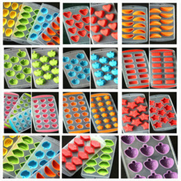 Wholesale Silicone Accessories For Kitchen - Silicone Ice Moulds Fruit Ice Mould Penguins Heart Ice Mold Tray Ice-making Molds For Bar Kitchen Tools Accessories IB030