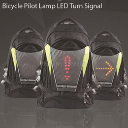 Wholesale Pilot Led Lights - Wholesale- 2016 Night Cycling signals Light Wireless LED Pilot Lamp Attached bicycle turn Signal bikes Backpack bike rear light reflector