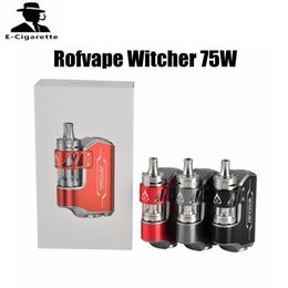Wholesale E Cigarettes Refills - Original Rofvape Witcher Kit with Witcher Tank 75W Starter Kit with 5.5ml Top Refilling Tank E Cigarette Ecig Vape Box