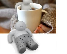 Wholesale Wholesale Infuser Teapots - Mr tea fred Teapot cute Mr Tea Infuser Tea Strainer Coffee & Tea Sets silicone fred free DHL