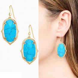 Wholesale Chandelier Frames - 2017 Christmas Earrings for Women Resin Dangle Gold Silver Frame Chandelier Bulk Price Jewelry