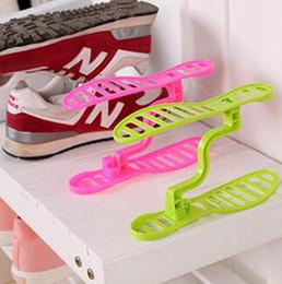 Wholesale Abs Bathrooms - ABS Shoes Holder Space Saving Shoe Organizer Storage Rack Plastic Shoe Organizer Shelves 4 Colors OOA3410