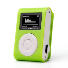 Wholesale Mini Mp3 Player 1gb - Wholesale- Futural Digital New Arrival Hot Mini USB Clip MP3 Player LCD Support 32GB Micro SD TF Card Slot Digital Wholesale F20