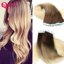 Wholesale Dreams Chinese - T3 613 Blonde Color Tape In Human Hair Extensions Brazilian Straight Virgin Human Hair Skin Weft 50g 20pcs Set Dreaming Queen Hair