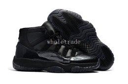 Wholesale Custom Sized Boxes - Free Shipping 2017 Air Retro 11 11s 72-10 Black Devil Black Custom Sales Sample Basketball Shoes Size 7 - 13 Come With Box