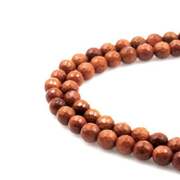 """Wholesale green sand stone - High quality natural faceted Gold sand stone round loose stone ball Beads 15"""" Strand 4 6 8 10 12mm DIY Jewelry Making bracelet"""