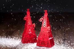 "Wholesale Eiffel Tower Boxes - Free Shipping! 50pcs lot 16*7*4.2cm ""Romantic city"" Paris Eiffel Tower Wedding Favor Box Birthday Wedding Party Baby Shower Gift"