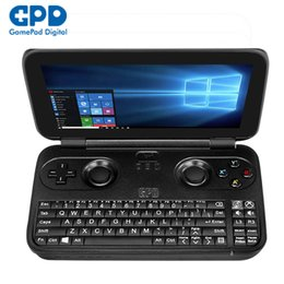 Wholesale Intel Hd - Wholesale- GPD Win Aluminum Shell Version 5.5 inch Gamepad Tablet PC Intel Atom X7 Z8750 Windows 10 4GB 64GB Game Console 2.56GHz 1280*720