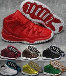 Wholesale Cheap China Kid Shoes - Cheap Kids Shoes Air Retro 11 Children Boys Girls Basketball Shoes Space Jams Bred 72 Infrared Red China Brands Sports Original Sneakers