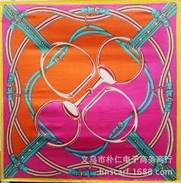 Wholesale Wholesale Designer Scarfs - Wholesale-90cm*90cm Multicolor Luxury Silk Bohemian Print Square Scarves For Women New 2016 Summer Designer Apparel Accessories