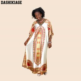 Wholesale Embroidery Caftan - Plus size New African Tranditional Party Long Dashiki Loose Dress Vintage 60s 70s Hippie Dashiki CAFTAN ethnic Indian boho