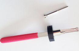 Wholesale Car Lock Pick Tools Hu66 - New Stainless Steel Car Dooer Lock Pick Tool HU66 Inner Groove Lock Pick Set w  Red Handle Locksmith Tools Car Opening Tools Free Shipping