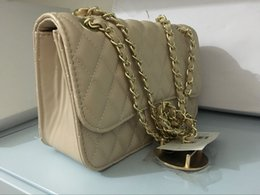Wholesale Silk Dresses Colors - Free shipping AAA + quality fashion jumbo double flap bag lady original caviar calfskin shoulder bag 6 colors #7655