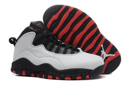 Wholesale M Powder - 2016Cheap High Quality Retro 10 Men basketball Shoes Steel bobcats powder blue bulls over broadway double nickel chicago sport sneaker Boots