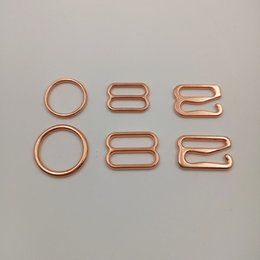 Wholesale Bra Sliders - Free shipping High quality bra rose gold plated rings sliders and hooks bra fasteners
