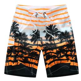 Wholesale Wholesale Board Shorts Clothing - Wholesale-2015 HOT Quick Dry Men Shorts Brand Summer Casual Clothing Coconut Trees Swimwears Beach Shorts Men's Seaside Board Shorts #B21