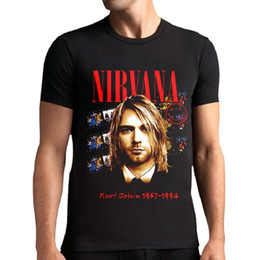 Wholesale Nirvana Top - 2017 Fashion streetwear men's 3D Metal Rock NIRVANA Bells Skulls t-shirt black short sleeve clothes t shirt loose fit Tops BMTX36 F