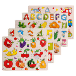 Wholesale Cube Jigsaw - Wholesale- wooden letters Children 3D Mini DIY Puzzle Kid Educational Toy Alphabet Letters Puzzles Jigsaw Baby Bricks Colorful Toys