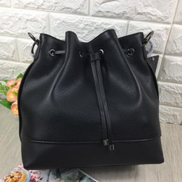 Wholesale Boston Messenger Bags - fashion women shoulder bag pu leather bucket Litchi pattern lady crossbody bags messenger bag SKUGU095