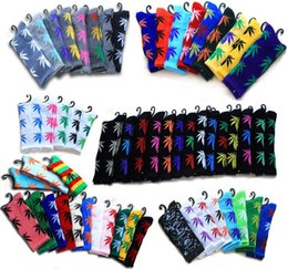 Wholesale Thick Bamboo Socks Wholesale - Hemp Socks Summer Style Bamboo Leaves Socks Medium Thick Candy Colored Socks for Men and Women 98