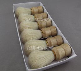Wholesale Shaving Brush Handles - 6 Pieces of Nature Boar Bristle Hair Wooden Handle Shaving   Beard Brush