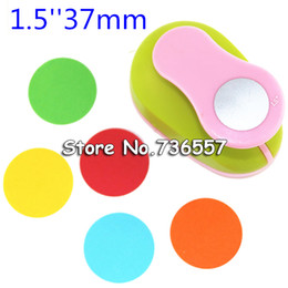 Wholesale Paper Embossing Tools - Wholesale- freeship circle punch Embossing device paper cutter crafts scrapbook kid child craft tool hole punches cortador de papel S2934-7