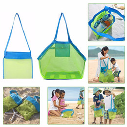 Wholesale Storage Wire Basket - S L SAND AWAY BEACH Baby Folding Baby Beach Mesh Bag Child Bath Toy Storage Bag Net Suction Cup Baskets Hanging Pouch Organizer
