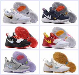 Wholesale Sport Rubber Ball - 2017 New Men Paul George PG 1 Dream Off Hook Zoom Low Basketball Shoes Adult I Glacier Grey Ivory Ferocity Sports Basket Ball Sneakers