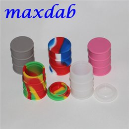 Wholesale tools for shaping food - 26ml Silicone Containers Food Grade Silicone Nonstick Barrel Drum Shape Container wax vaporizer dabber For Oil dry herb herbal