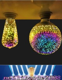 Wholesale New Lamp Decorative - 2017 NEW ST64 G80 G95 5W Fireworks bulb led filament lamp E27 decorative color 3D Edison light bulb for holiday home decoration MYY
