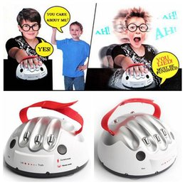 Wholesale Lie Detectors - Polygraph Shocking Liar Micro Electric Shock Lie Detector Truth Game Toy High Low Shock Setting Indicate Fact or Porky CCA6528 30pcs