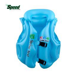 Wholesale Child Inflatable Life Vest - Wholesale- Boys Girls Drifting Adjustable Children Kids Baby Inflatable Life Vest Swiwmsuit Child Swimming Safety Vest 3 Size