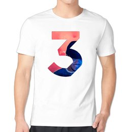Wholesale T Shirts Number - Chance The Rapper Number 3 Custom 100% Cotton men's T Shirt cheap sell Free shipping